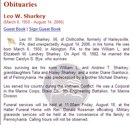 sample of obituary
